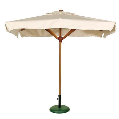 Ομπρέλα ξύλινη παραλ/μη εκρού 150Χ240 εκ