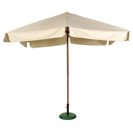 Square wood umbrella ecru 300X300 cm