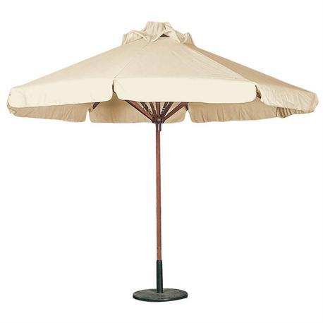 Round wood umbrella ecru Ø300 cm