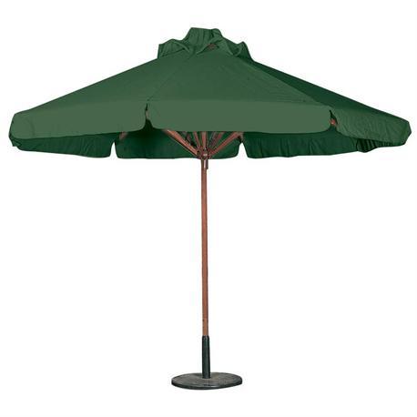 Ομπρέλα ξύλινη στρογγυλή πράσσινη Ø300 εκ