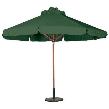 Round wood umbrella green Ø300 cm