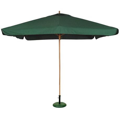 Ομπρέλα ξύλινη τετράγωνη πράσσινη 300Χ300 μ