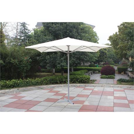 Square aluminium automatic umbrella 400X400 cm