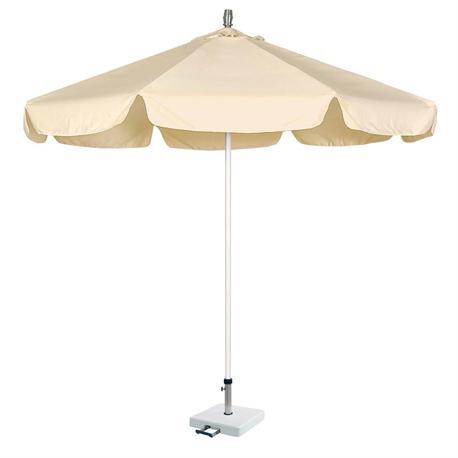 Ομπρέλα αλουμινίου στρογγυλή εκρού Ø230 εκ