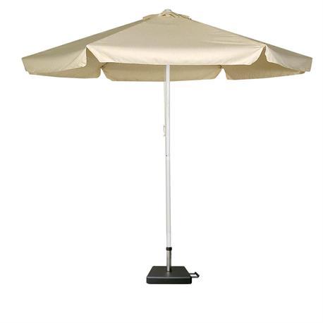 Round aluminium umbrella ecru With expanding body