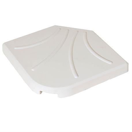 Βase plates 25kgr white 50X50 cm