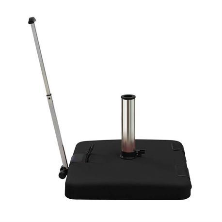 Black base with handle & wheels 50Χ50 cm 50 kgr