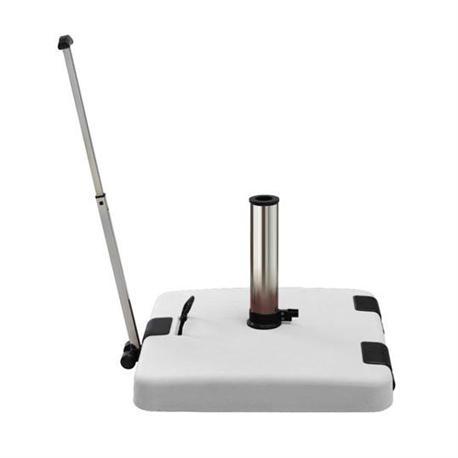 White base with handle & wheels 50Χ50 cm 50 kgr