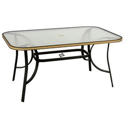 Rectangular aluminium table 80Χ125 cm