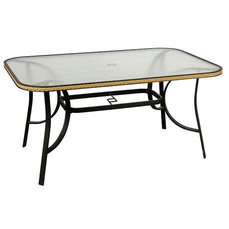 Rectangular aluminium table 80Χ125 cm