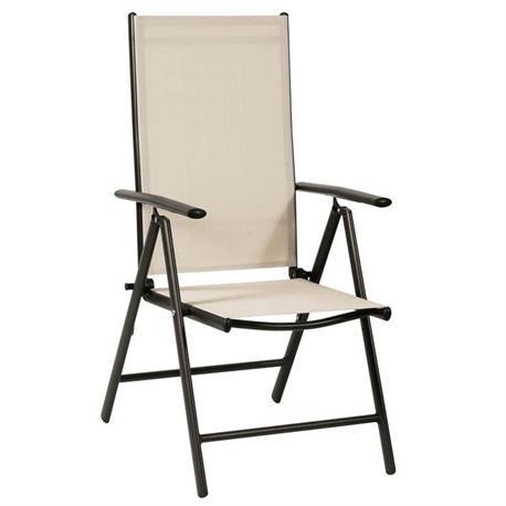 Aluminium armchair 7 positions high back