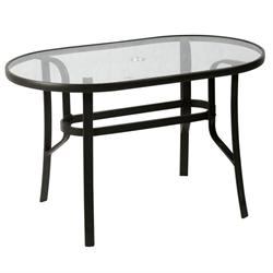 Oval aluminium table 70X120 cm