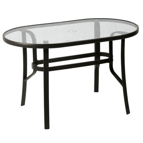 Oval aluminium table 70X120 cm