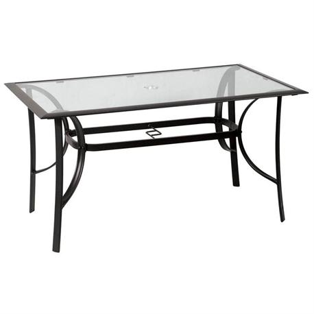 Rectangular aluminium table 80Χ140 em