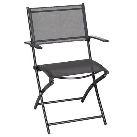 Folding aluminium armchair