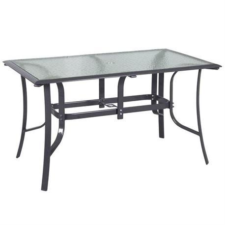 Rectangular aluminium table 75Χ130 cm