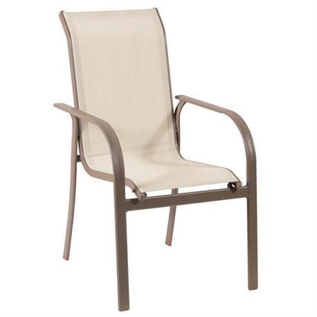 Stackable metallic armchair