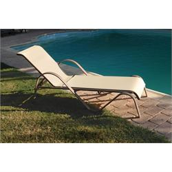 Reclining lounger stackble aluminium