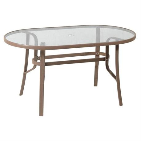 Oval aluminium table 90X160 cm