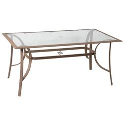 Rectangular aluminium table 70Χ120 cm